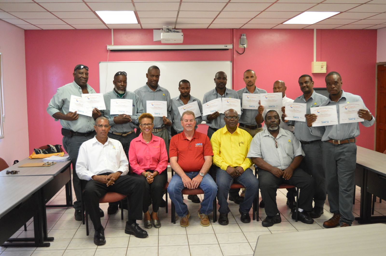 VINLEC linemen with local facilitators and external examiners